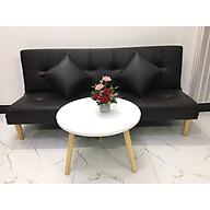 Bộ ghế sofa bed, sofa giường nội thất màu đen và bàn tròn SB14 thumbnail