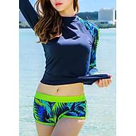 Đồ Bơi Tay Dài Nữ - Xanh Dương Tay Lá thumbnail