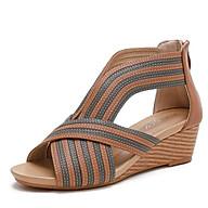 Giày quai ngang nữ giày sandals nữ dép quai hậu nữ cao 5 cm Mã 1418- 672 tặng kèm 1 dây buộc tóc ngẫu nhiên thumbnail