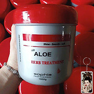 Kem ủ tóc siêu thảo dược Sophia Platinum Aloe Herb Treatment New Hàn Quốc 1000ml tặng kèm móc khoá thumbnail