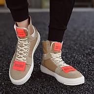 Giày nam cổ cao Fashion Đính 2 tem cam nổi bật thumbnail