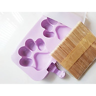 Khuôn kem silicon - tặng kèm 50 que gỗ và nắp thumbnail