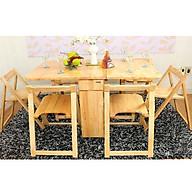 Bàn ghế xếp gọn màu gỗ tự nhiên thumbnail
