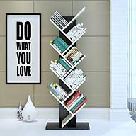 Kệ Sách Gỗ Hình Cây 9 tầng, Kệ Sách Đứng Hình Xương Cá Đa Năng Thanh Lịch (KS-30) thumbnail