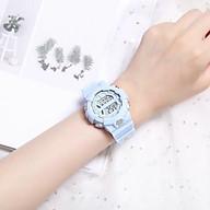 Đồng hồ điện tử nam nữ dây hoa cúc mặt tròn Sgv15 thumbnail