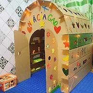 Nhà bìa đồ chơi - Nhà giấy vòm carton 100% bột gỗ - Ngôi nhà bóng cho bé thỏa sức vui chơi [ trẻ em dưới 12 tuổi] thumbnail