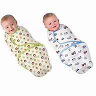Túi quấn ủ cotton mềm, mịn, thoáng mát cho bé sơ sinh ( tặng kèm 1 mũ sơ sinh) thumbnail