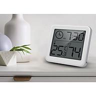 Đồng hồ hiển thị nhiệt độ và độ ẩm mini sử dụng trong phòng ngủ, phòng làm việc, xe hơi, bệnh viện... ( Tặng kèm đèn led mini cắm cổng USB ngẫu nhiên ) thumbnail