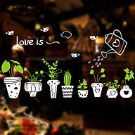 Decal dán kính hoa lá trang trí nhà cửa VIMOS thumbnail