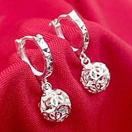 Bông tai nữ Bạc Quang Thản kiểu dáng dài đeo quả cầu kim tiền phay sáng bóng chất liệu bạc thật không xi mạ, phong cách cá tính phù hợp với mọi lứa tuổi - QTBT41 thumbnail