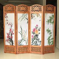 Bình phong khung gỗ tranh XUÂN-HẠ-THU-ĐÔNG 180x200 AT011 thumbnail