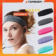 Băng đô, băng trán thể thao headband thấm hút mồ hôi nam nữ TOPBODY thumbnail