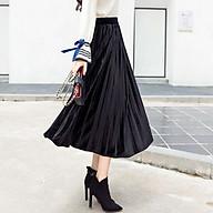 Chân váy xếp ly dáng dài thumbnail