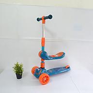 Xe trượt scooter có đèn nhạc, có Ghế ngồi chòi chân + Tặng kèm 1khăn yếm tam giác cho bé thumbnail