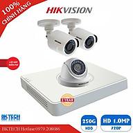 Bộ 3 camera giám sát hikvision hd- HÀNG CHÍNH HÃNG thumbnail