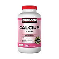 Thực phẩm bảo vệ sức khỏe Calcium 600mg + D3 - hộp 500 Viên - KIRKLAND thumbnail