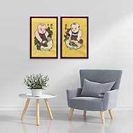 Bộ 2 tranh nghệ thuật Đông Hồ Vinh Hoa Phú Quý W2217 - khổ đứng thumbnail