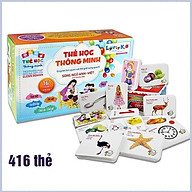 Bộ thẻ học thông minh 16 chủ đề tiếng anh với 416 thẻ song ngữ cho bé - DC7 thumbnail