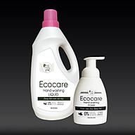 Nước rửa tay hữu cơ diệt khuẩn dạng bọt hương Nhài 1000ml thương hiệu Ecocare ( tặng kèm vỏ tạo bọt) thumbnail