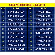 SIM SỐ ĐẸP MOBIFONE - LIST 11 (MBFDS11) - Số dễ nhớ, thần tài, lộc phát, số cặp, số tiến - Chọn Số Theo Danh Sách - SIM MỚI, ĐĂNG KÝ ĐÚNG CHỦ ONLINE-Hàng Chính Hãng thumbnail