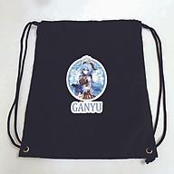 Balo dây rút đen in hình GENSHIN IMPACT game anime ver TÊN LIYUE túi rút đi học xinh xắn thời trang thumbnail