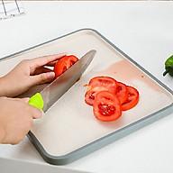 Thớt Nhựa 2 Mặt iKiU, Ngăn Nước Chảy Ra Bàn Bếp ( Nhiều Mầu Sắc Lựa Chọn) thumbnail