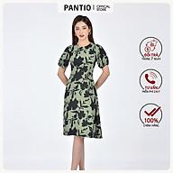 Đầm công sở chất liệu Lụa mờ dáng xòe ngắn tay FDC32968 - PANTIO thumbnail