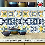 Decal Dán Tường Trang Trí Bếp Họa Tiết Xanh Lơ Vàng ( Mã 05) Giấy Dán Bếp Chống Bay Màu, Bắn Dầu Mỡ, Chịu Nhiệt thumbnail