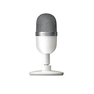 Razer Seiren Mini USB Condenser Microphone Ultra-compact Streaming Microphone with Supercardioid Pickup Pattern Silver thumbnail