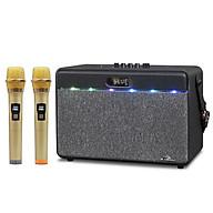 Loa bluetooth karaoke Kiomic K618 - Tặng kèm 2 micro không dây - Chỉnh bass treble echo dễ dàng - Đầy đủ cổng kết nối USB, AUX, TF card - Loa xách tay du lịch cực hay - Nghe nhạc, karaoke cực bay - Hàng nhập khẩu thumbnail