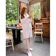Áo choàng tắm Kimono dệt 100% cotton, áo choàng tắm khách sạn, Spa, Homestay thumbnail