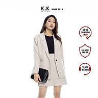 Chân Váy Chữ A Vạt Chéo Xếp Ly K&K Fashion CV02-31 Màu Nude Vải Bố thumbnail