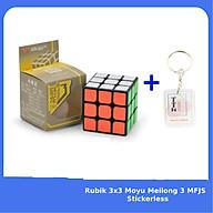 Rubik 3x3 YJ V3 YongJun Viền Đen Rubic 3 Tầng Đồ Chơi Trí Tuệ kèm Móc khóa TTH thumbnail