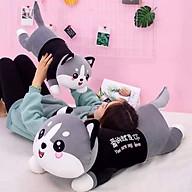 Gối ôm, Gấu bông mèo husky, Thú nhồi bông mèo husky đáng yêu siêu cute thumbnail