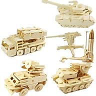 Xếp hình gỗ 3D mô hình quân sự, đồ chơi lắp ráp xe quân sự 3D bằng gỗ 3d, xe tăng, tên lửa, tàu tuần tra... thumbnail