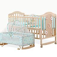 Full set giường cũi gỗ cho bé gồm cũi , nôi , màn , bộ quây cũi , chăn bông gòn thumbnail