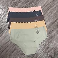 Combo 5 quần lót nữ su 561 mẫu trơn in chữ chìm hình trái tim nhiều màu co dãn đàn hồi tốt thấm hút mồ hôi phù hợp mọi lứa tuổi thoải mái khi mặc - giao màu ngẫu nhiên thumbnail