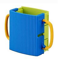 Combo 2 giá đựng hộp sữa có quai cầm màu xanh cho bé nội địa Nhật Bản thumbnail