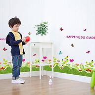 Decal trang trí dán chân tường khu vườn hoa đầy màu sắc cho bé SK7006 thumbnail