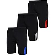 Bộ 3 quần thể thao nam chất đẹp vải mát túi khóa kéo Pigofashion QTTN01 sọc xanh, sọc trắng, sọc đỏ thumbnail