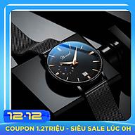 Đồng hồ nam cao cấp DIZIZID Dây Titanium Chạy Full 3 Kim Và Lịch Ngày - High Fashion Design DIZ3KD9 thumbnail