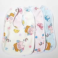 Set 3 Yếm ăn dặm khăn tay vải mềm cho bé thumbnail