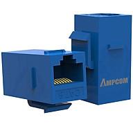 Đầu nối dây mạng CAT6 RJ45 AMPCOM Nhân Wallplate AMPCOM chuẩn CAT6 UTP RJ45 (Blue) AMC60802 - Hàng Chính Hãng thumbnail