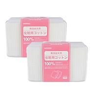 Combo 2 hộp bông tẩy trang Miniso 1000 miếng 100% Cotton Nhật thumbnail