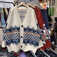 Áo khoác len cadigan nữ dày đẹp hoạ tiết thổ cẩm thumbnail