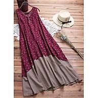 Đầm suông không tay hoa lá ArcticHunter, vải thô mềm, thích hợp mùa hè, thương hiệu chính hãng thumbnail