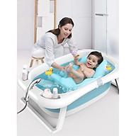 Chậu tắm gấp gọn - dễ cất giữ - dễ mang đi xa - tặng kèm bộ bấm móng tay cho bé thumbnail