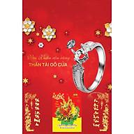 In Lịch Gỗ Tết Treo Tường Laminate 2021 Dành Cho Tiệm Vàng - Vui Xuân Rộn Ràng, Thần Tài Gõ Cửa (40 Cm x 60 Cm) thumbnail