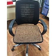 Chiếu lót ghế văn phòng hạt gỗ Hương tiện lợi hạt 12ly Mã H1 - Sản phẩm y hình , hình thật 100% thumbnail