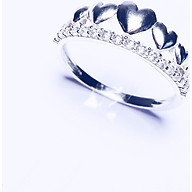 KEELY VALDA Trang sức nhẫn Line Heart Diamond Lux thumbnail
